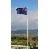 FP-031 Flagpole 20Ft (6m) White PC